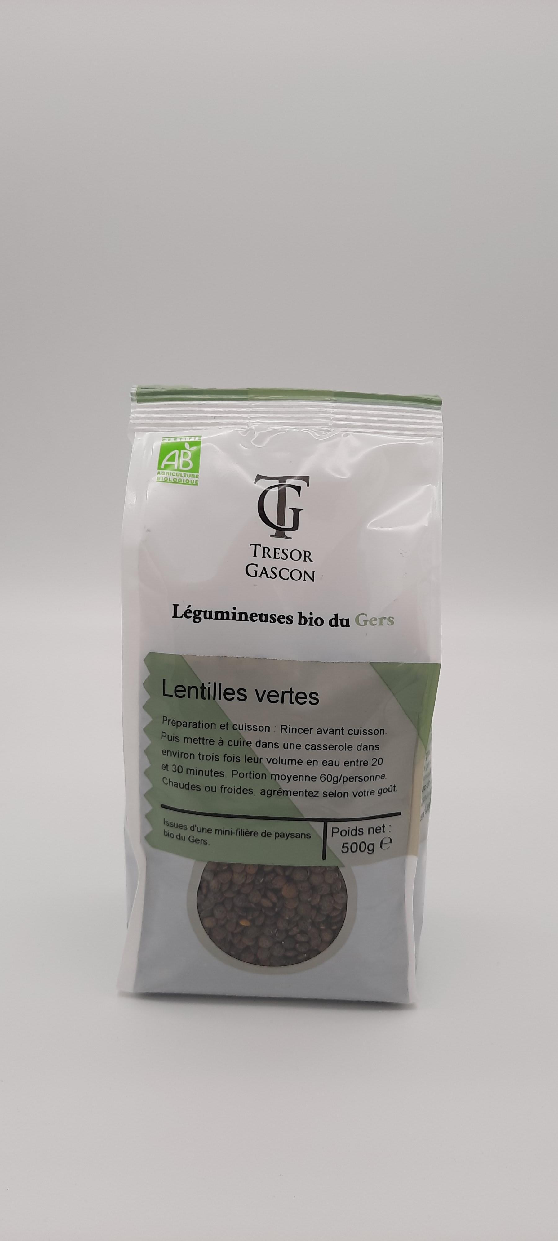 Lentilles vertes  Bio 500gr